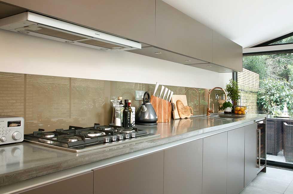 industrial glazed kitchen extension kitchen units interior