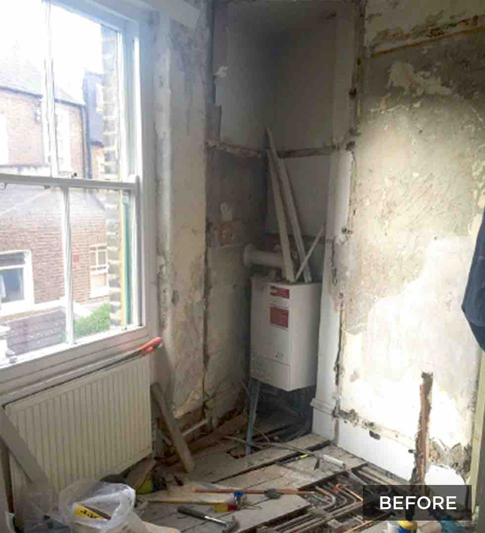 Small london flat before renovation work