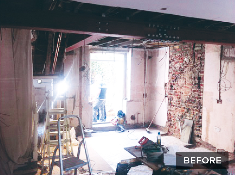 victorian terraced home before extension