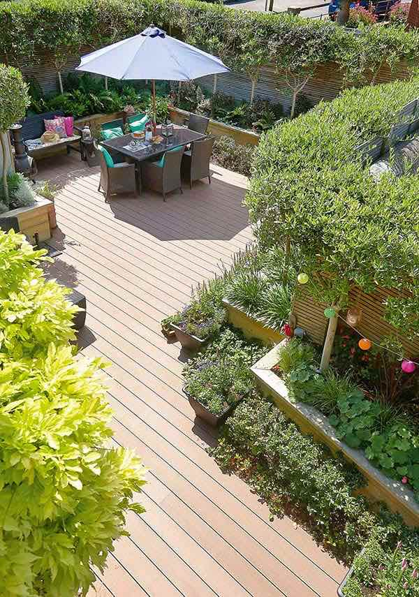 Stylish transformation of a dublin city garden real homes for Garden decking homebase