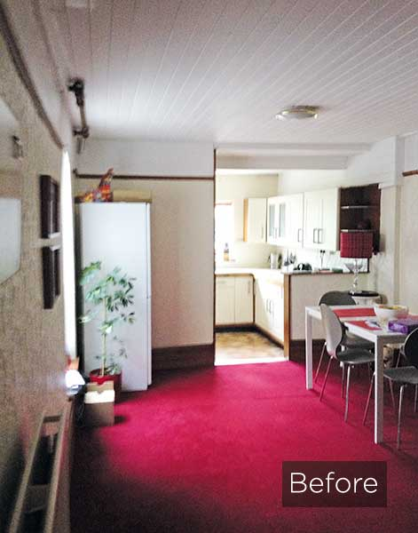 Victorian terrace kitchen diner before the extension