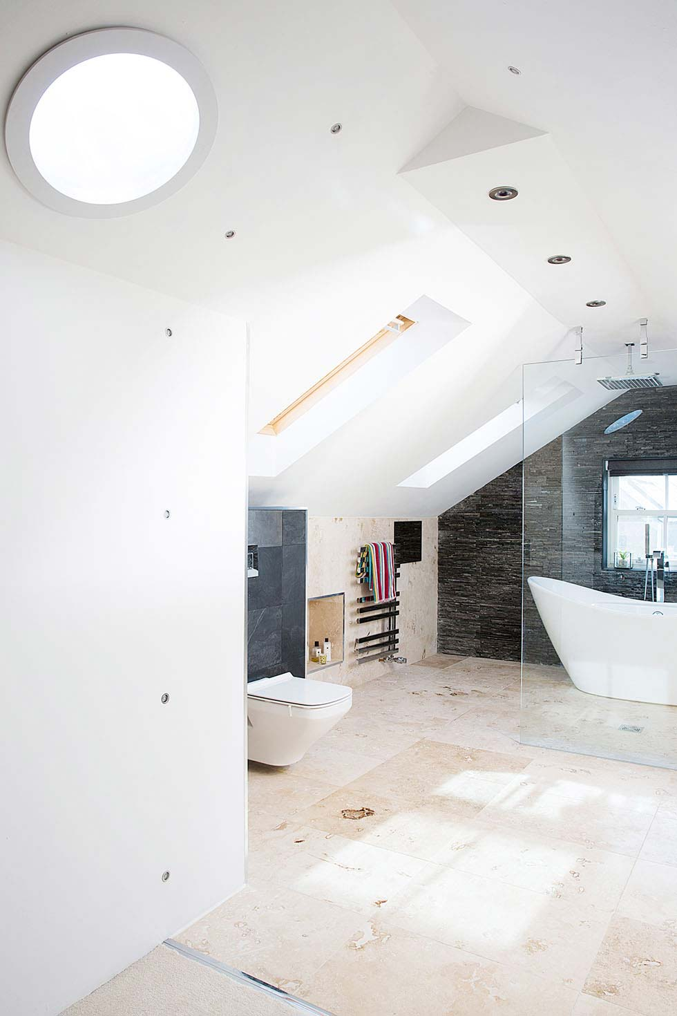 open-plan en-suite bathroom in a loft conversion