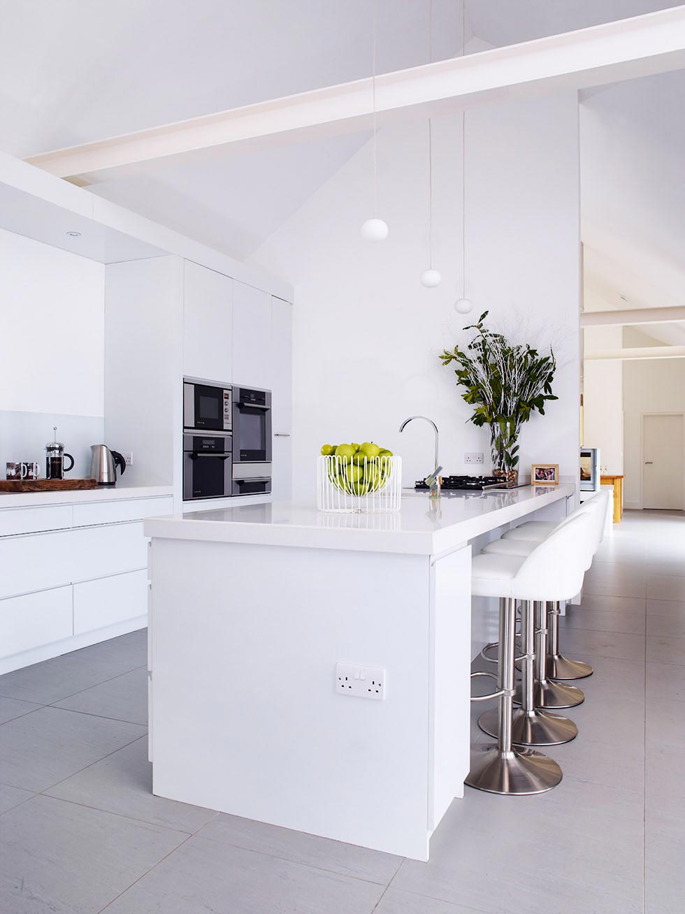 open plan contemporary kitchen in a saw mill