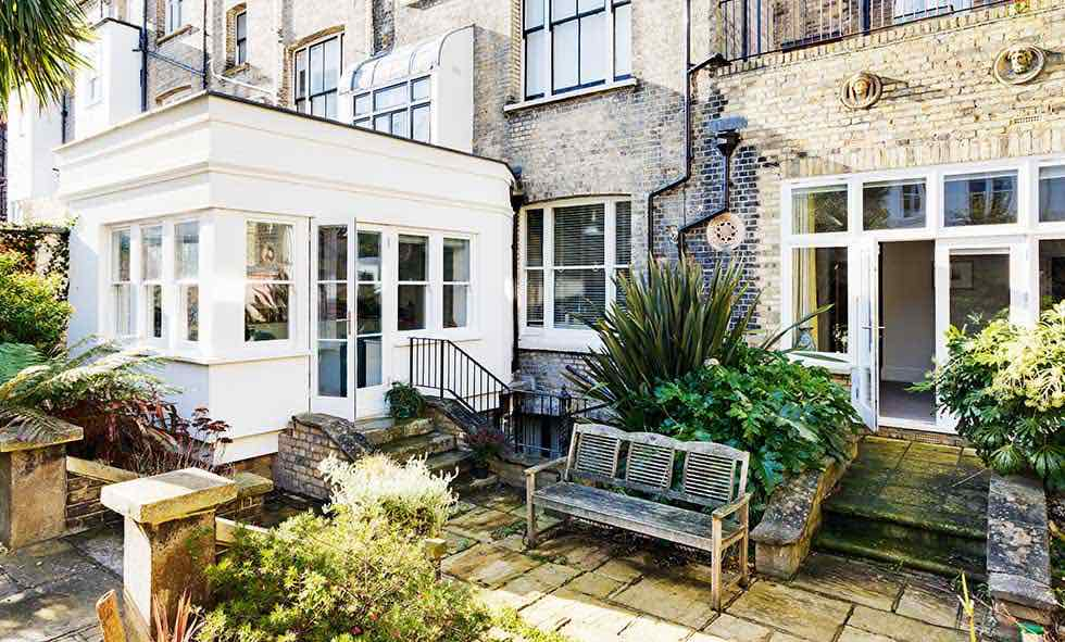 rear extension to a ground floor Victorian flat