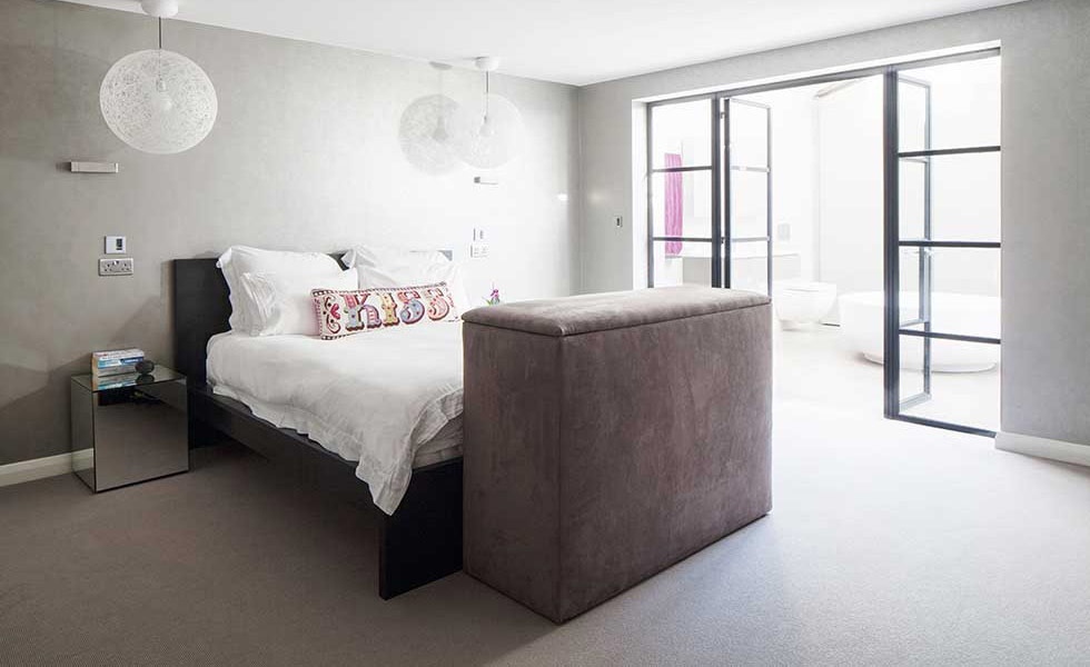 an accessible bedroom in a converted powerstation