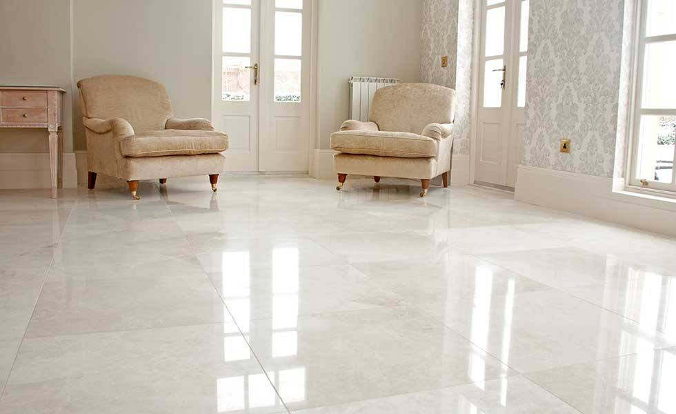 Crema marble polished natural stone tile