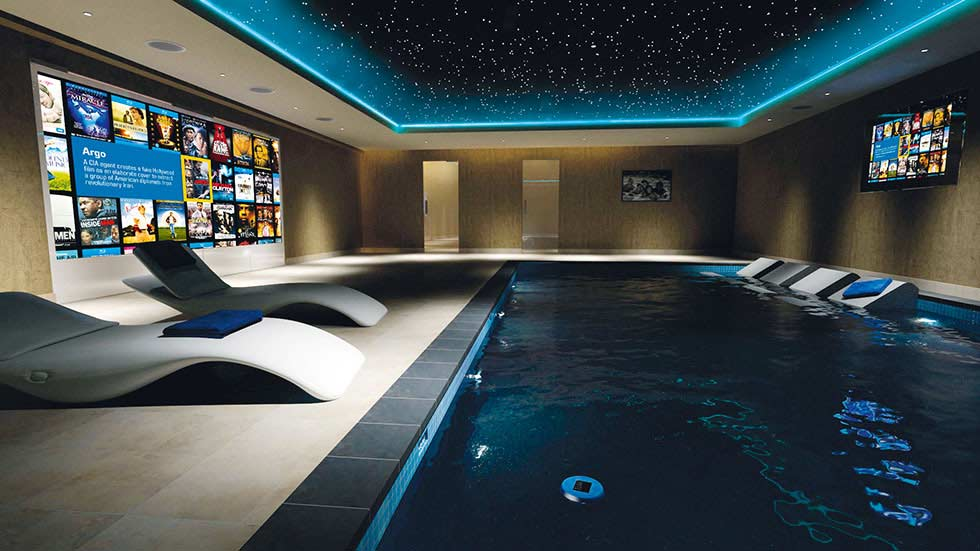 How to build a home cinema room real homes for Swimming pool room decor