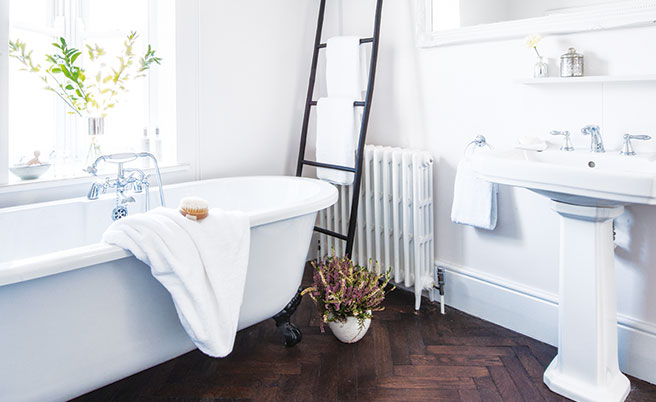 dream bathroom pictures. you love homes that combine traditional and contemporary influences. classic roll-top baths with ornate feet, sinks integrated towel rails look dream bathroom pictures r