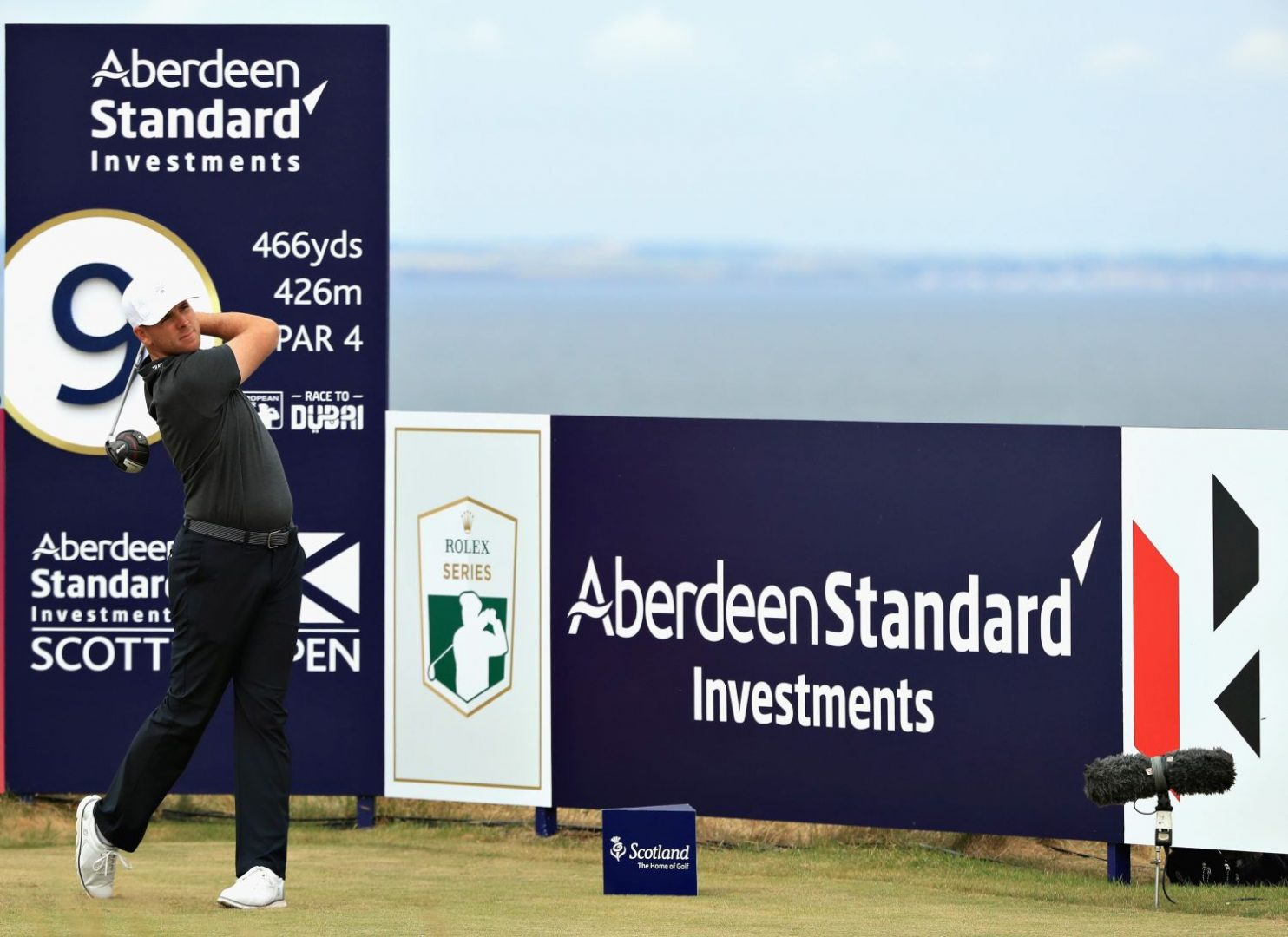 GULLANE, SCOTLAND - JULY 12: Luke List of USA takes his tee shot on hole nine during day one of the Aberdeen Standard Investments Scottish Open at Gullane Golf Course on July 12, 2018 in Gullane, Scotland.  (Photo by Andrew Redington/Getty Images)
