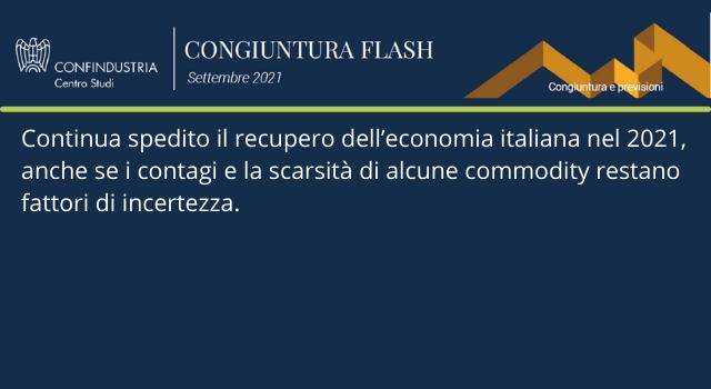 Congiuntura Flash - Centro Studi Confindustria - settembre 2021