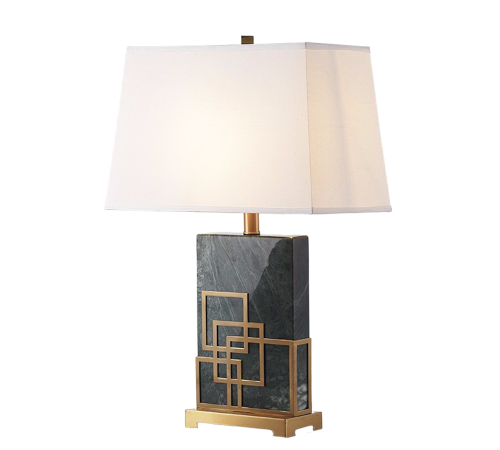 ROOBBA Everest Gold Black Marble Table Lamp