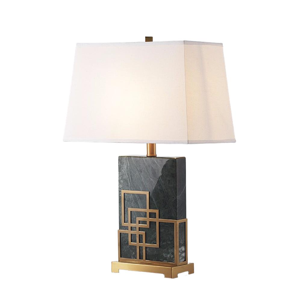 ROOBBA Everest Gold Black Marble Table Lamp