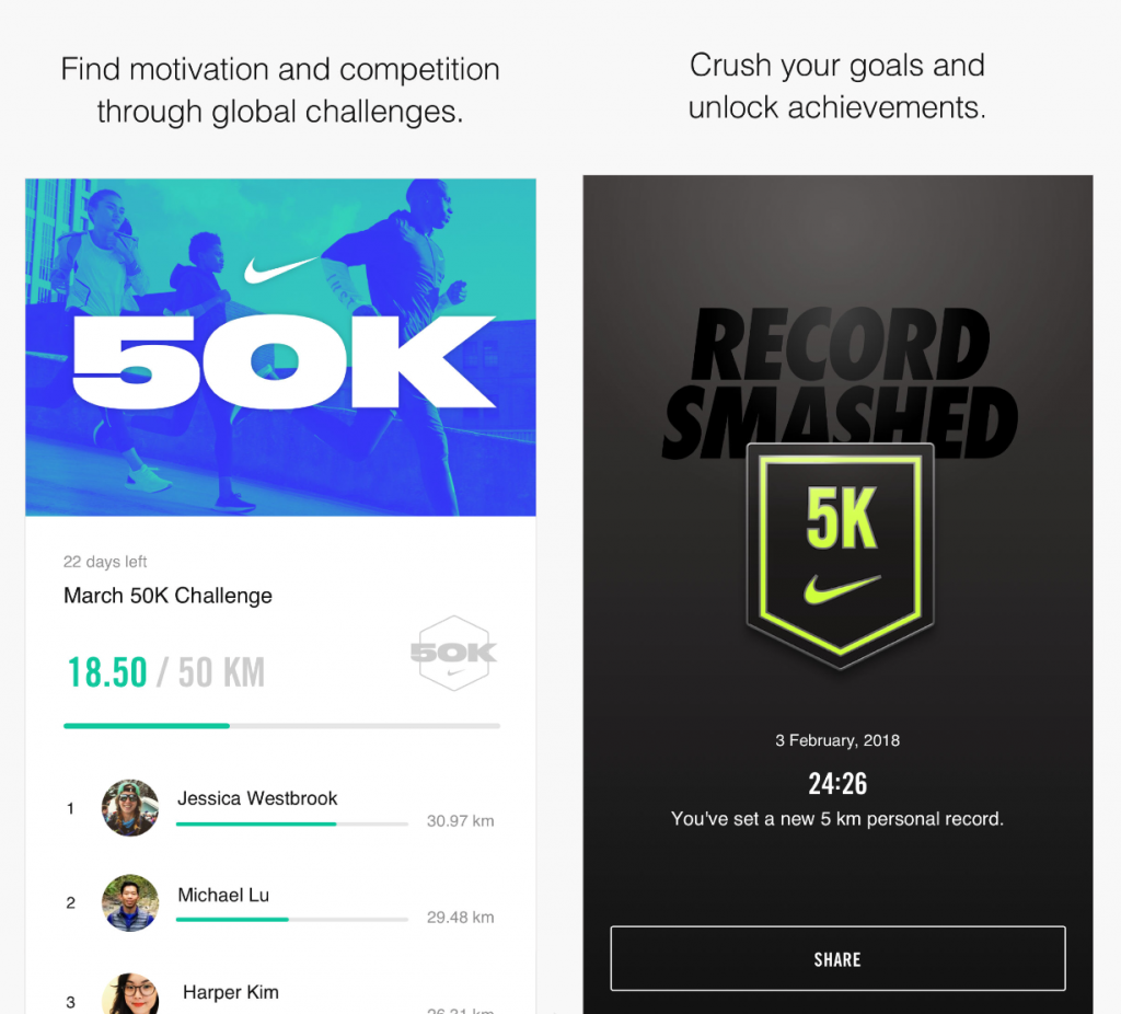 Nike+ Gamification
