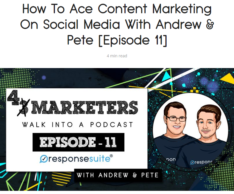 3 marketers podcast andrew and pete