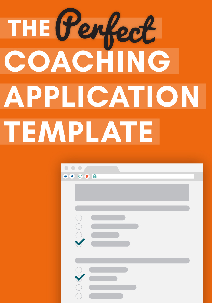 coaching application form template