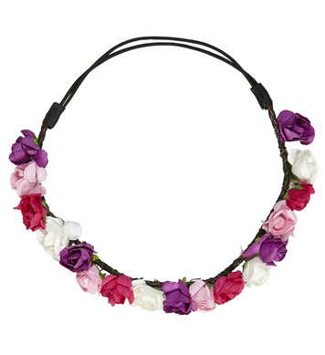 FLOWER HEADBAND - PINK/PURPLE