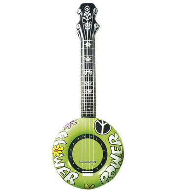 INFLATABLE BANJO 100cm GREEN