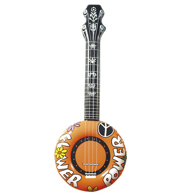 INFLATABLE BANJO 100cm ORANGE