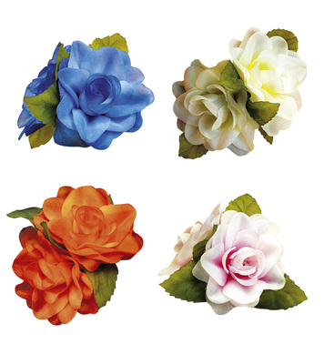 HAIRCLIP 2 ROSES - 4 colours