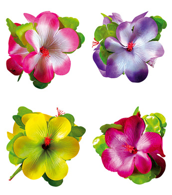 HIBISCUS 3 FLOWER HAIR CLIP LARGE - 4 colours