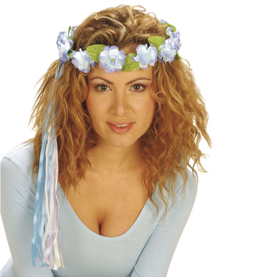FLOWER TIARA W/MULTI STRINGS - 6 styles