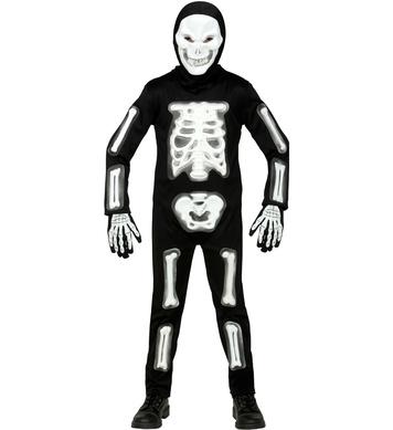 3D SKELETON WHITE (jumpsuit, hooded mask, gloves) Childrens