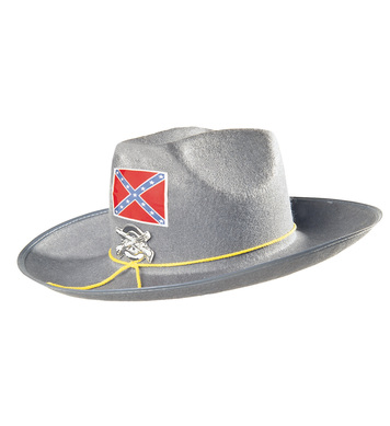 FELT CONFED HAT WITH BADGE