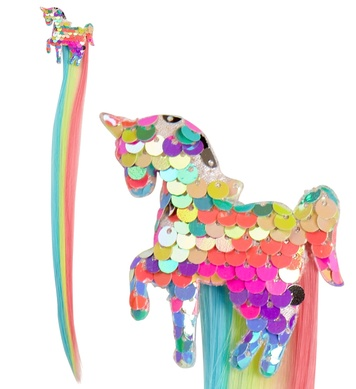 HOLOGRAPHIC SEQUIN UNICORN HAIR EXTENSION for girl