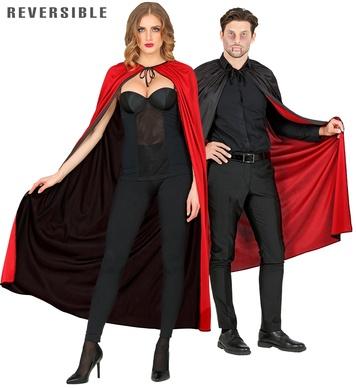 BLACK/RED REVERSIBLE CAPE 130 cm