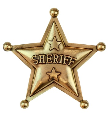 AUTHENTIC SHERIFF STAR