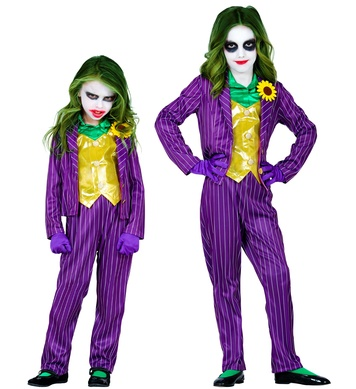 EVIL CLOWN (jacket with shirt and vest,pants,gloves) Childrens