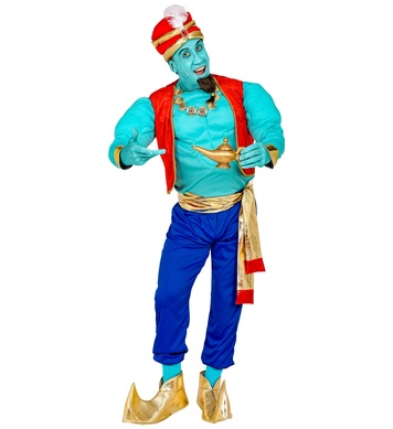 MAGIC GENIE ADULT COSTUME WITH MUSCLE SHIRT