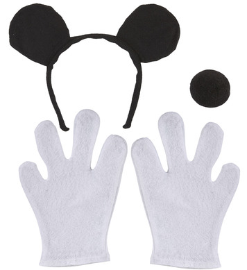 MOUSE SET - CHILD SIZE (ears nose gloves)