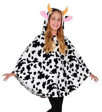 COW PONCHO CHILD (hooded poncho)