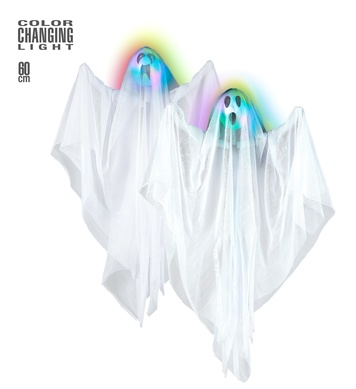 COLOR CHANGING LIGHT-UP GHOST 60 cm - 2 styles ass