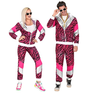 80s PINK TIGER SHELL SUIT (jacket, pants)