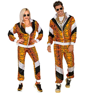 80s TIGER SHELL SUIT (jacket, pants)
