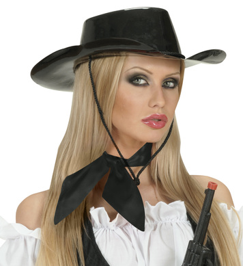 NECK SASH SATIN - BLACK