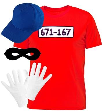 BURGLAR (T-shirt, gloves, eyemask, cap)
