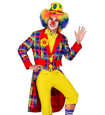 MR CHEQUERED CLOWN TAILCOAT ADULT