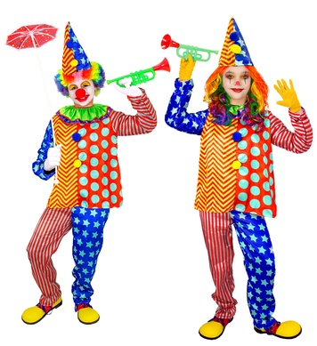 CLOWN (coat with ruff, pants, hat) Childrens
