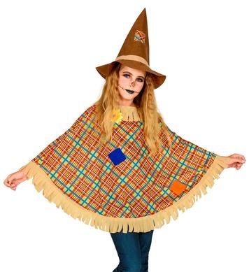 SCARECROW PONCHO CHILD (poncho, hat)