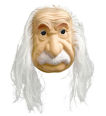 EINSTEIN MASK WITH HAIR