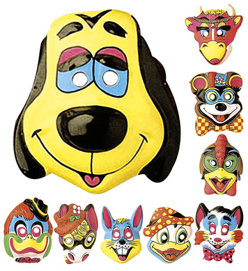 ANIMAL MASK PLASTIC - 9 styles
