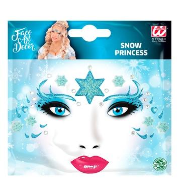 GLITTER SNOW PRINCESS ADHESIVE FACE ART DECOR