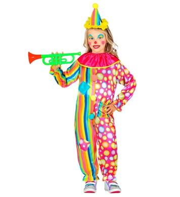 CLOWN (jumpsuit with collar, mini hat) Childrens
