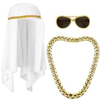 ARAB SHEIK (headdress, necklace, glasses)