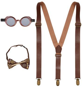 STEAMPUNK (braces, bow tie, goggles)