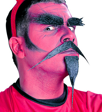 DEVIL SET (moustache goatee beard eyebrows)