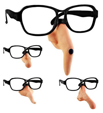 GLASSES W/NOSE - 4 styles